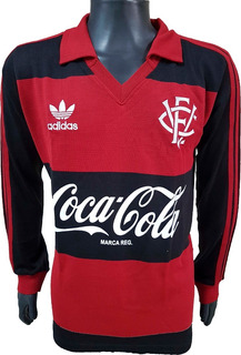 Camisa Retrô Vitória Da Bahia 1990 Coca Cola ( Manga Longa )