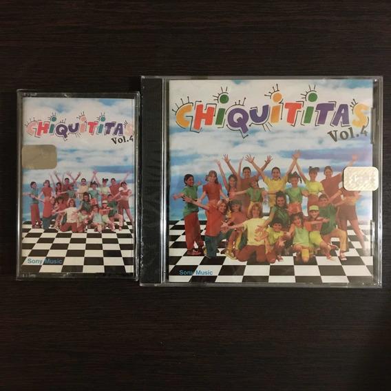 Chiquititas Vol 4 Lote Cd + Cassette Sellados - Cris Morena