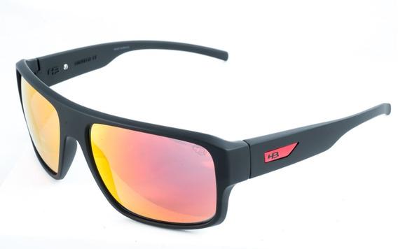 Óculos De Sol Hb Redback Preto Vermelho Original Garantia