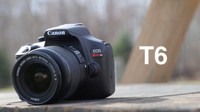 Câmera Digital Canon Eos Rebel T6 Dslr C/ Lente Ef-s 18-55mm