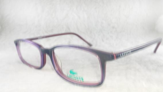 Óculos #receituário Ou #solar Metal Retrô #lacoste 7400b