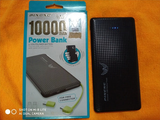 Power Bank Pineng Pn-951 10.000mah - Original - Preto