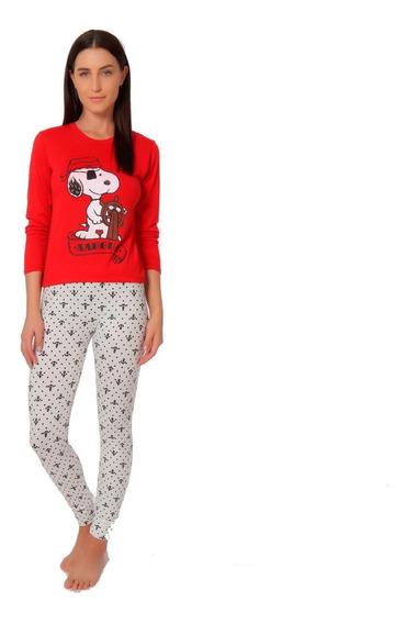 Pijama Para Dama Snoopy Blusa Manga 3/4 Legging 9029