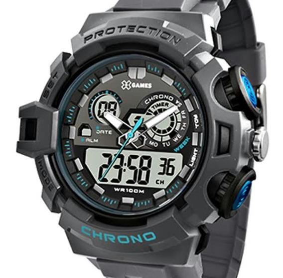 Relógio X-games Masculino Xmppa246 Anadig Multifunção Quartz