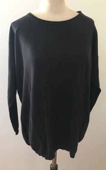 A La Page. Sweater Negro. Talle 44 (con Detalle)