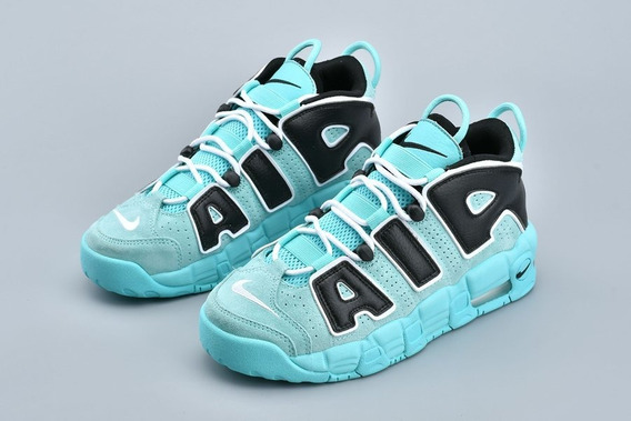 Tênis Nike Air More Uptempo Aqua Original Na Caixa Top