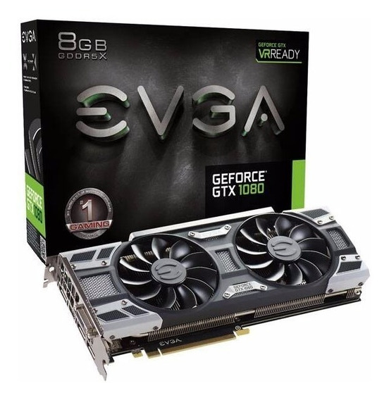 Placa De Vídeo Evga Geforce Gtx 1080 Gamer Acx 3.0 08g-p4-6