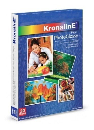 Papel Photoglossy Inkjet 20 Hojas Carta Kronaline Ph347 Foto