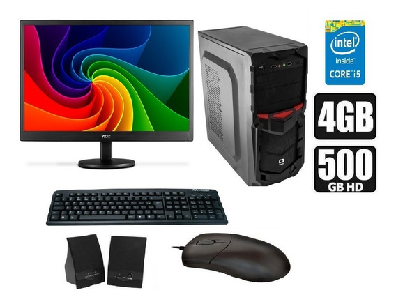 Computador Intel Core I5 + Monitor 18,5 Pol + Kit Multimidia