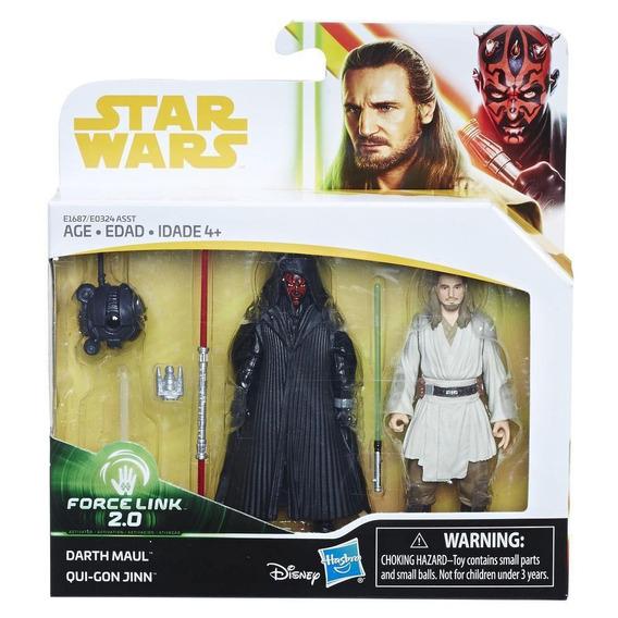 Star Wars Force Link 2.0 - Figuras De Darth Vader Y Qui-gon