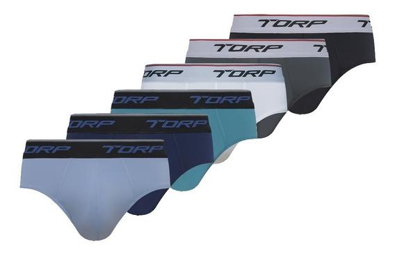 Cueca Torp Slip Microfibra Cores Kit Com 12 Cuecas