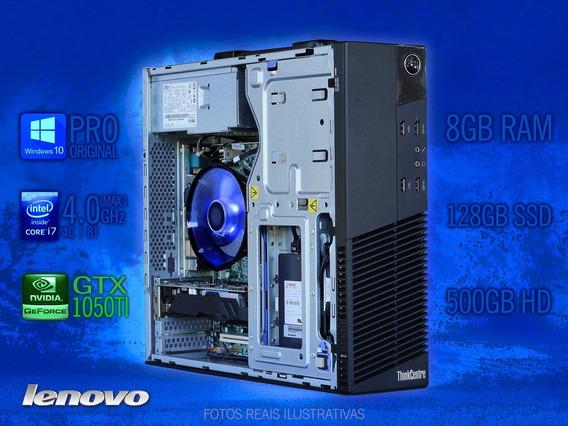 Pc Gamer Slim Lenovo M93p I7 128ssd 500hd Gtx 1050ti W10 Pro