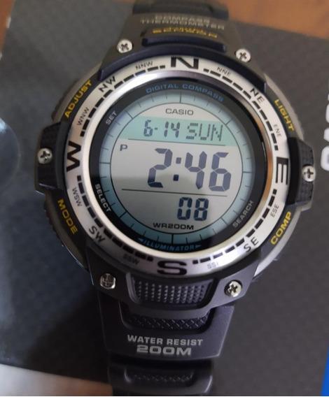 Relógio Casio Swg 100 Outgear 200m Bússola Termômetro