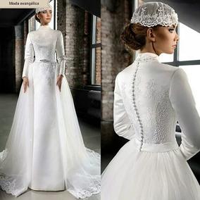 Vestidos De Noiva Moda Evangélica P A Plus Size Cetim
