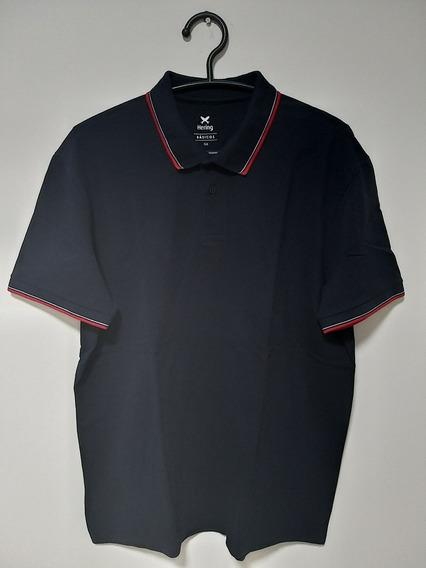 Camisa Polo Hering Azul Marinho
