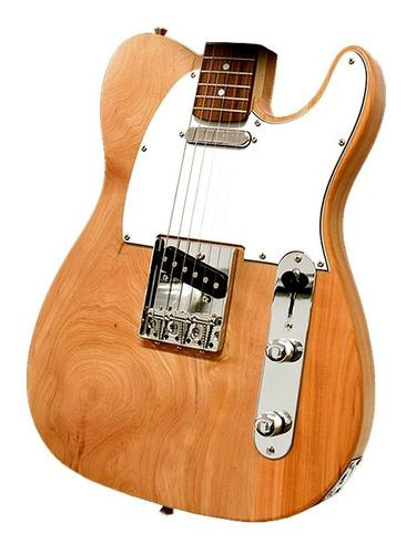 Guitarra Electrica Telecaster Natural Wood Bolt On Premium