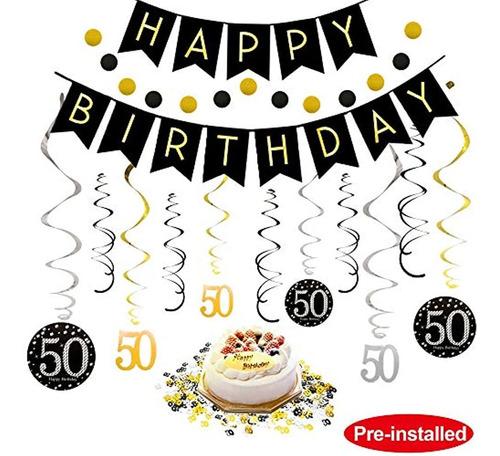 Kit De Decoración De 50 Cumpleaños Para Hombres Y Mujeres