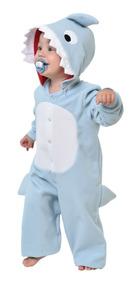 Baby Shark Bebê Tubarão Macacão Fantasia Festa