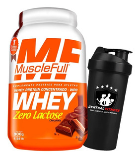 Whey Protein Zero Lactose Wpc 900g - Muscle Full + Coq