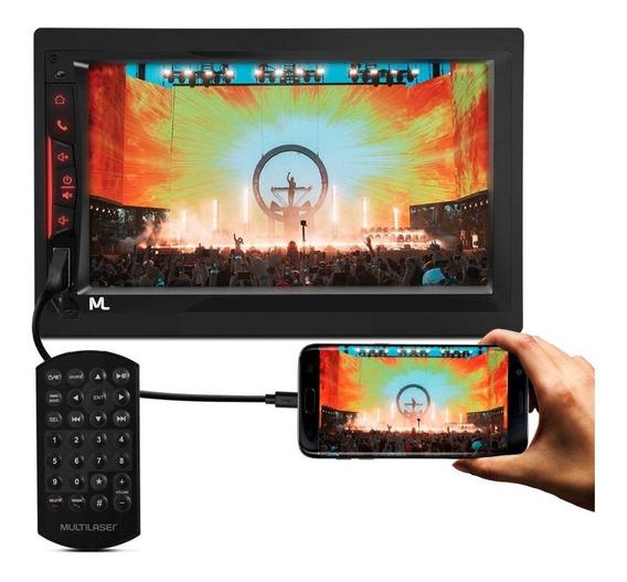 Central Multimídia Universal 7 Pol Bt Gps Tv Espelha Celular