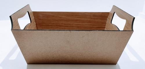 Imagem 1 de 3 de Bandejas Tipo Cesta 22x14,5x10 Mdf - 1 Unidade