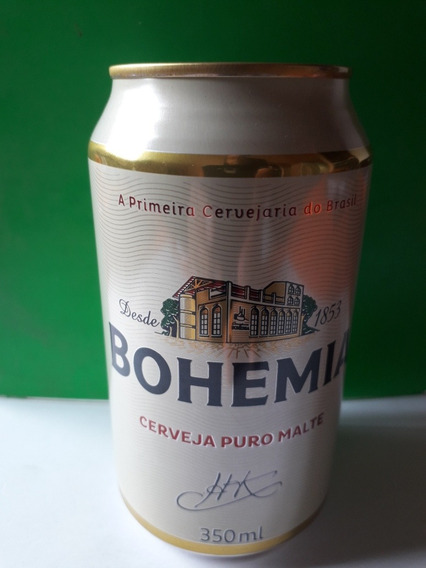 Lata De Cerveza De Brasil Bohemia Llena