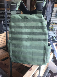 Chaleco Táctico Porta Placas Mod Tactec Tipo 5.11 (verde)