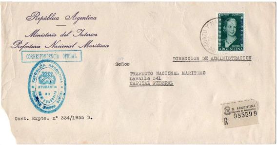 Argentina 1955. Sobre Con 1.50 Eva Peron Servicio Oficial
