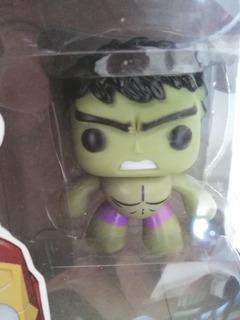 Muñecos Cabezones Funko Hulk Super Goku Iron Man