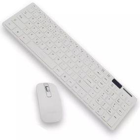 Kit Teclado Mouse Sem Fio Slim Wireless C/ Capa Silicone Usb