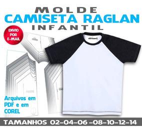 Camiseta Infantil Raglan - Moldes Em Pdf E Em Corel