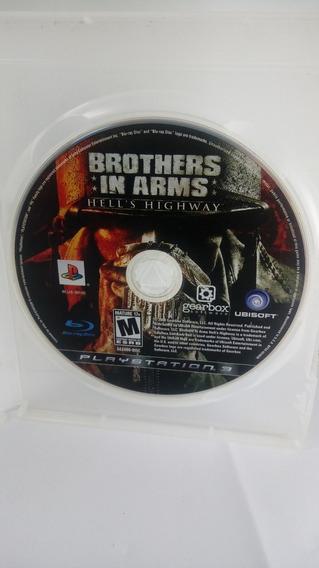 Só O Cd - Jogo Brothers In Arms Playstation 3 Ps3 Game Mídia Física - Só Cd Puro Sem Caixa