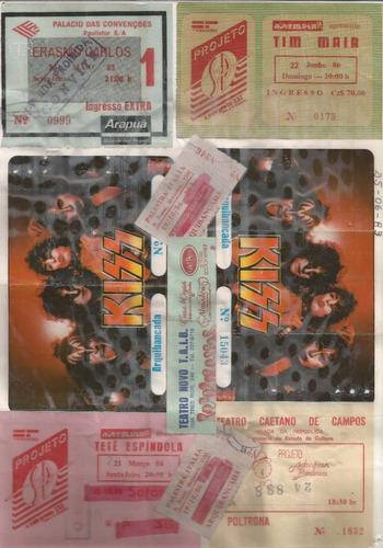 Ingresso Kiss 83 Rick Wakeman 81 Rita Lee Tim Maia Erasmo +
