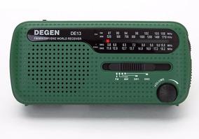 Rádio Multifuncional Degen De13 Am/fm/sw Lanterna Led Dínamo