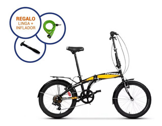 Bicicleta Plegable R20 Folding Topmega Shimano 7v Liviana !