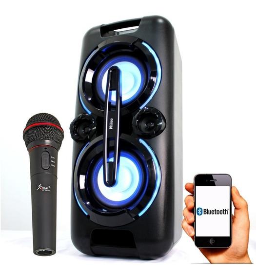 Caixa Som Portátil Bluetooth Recarreg 150w Philco Microfone