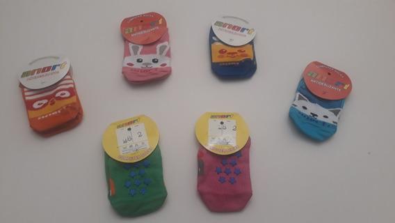 Medias Antideslizantes Bebes Y Niños Pack X 3 Pares. Cortas