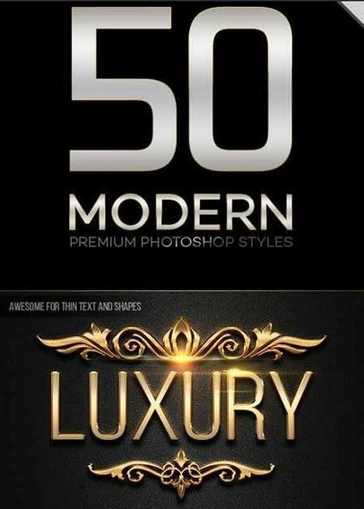 Pack Com 50 Modernos Styles Para Photoshop