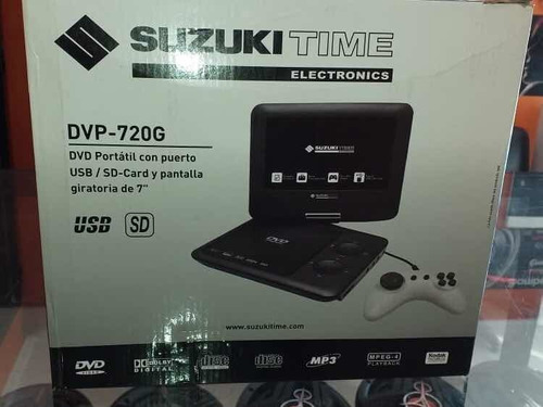 Dvd Portátil Suzuki Time De 7 Pulgadas