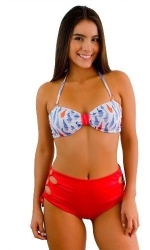 Bikini Alto Jessie De La Rosa Vestido De Baño Bora