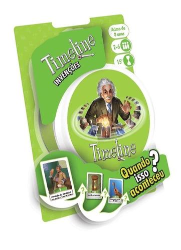 Imagem 1 de 3 de Timeline Invenções Jogo De Cartas Galápagos Jogos