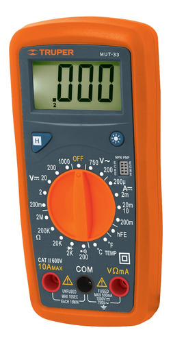 Imagen 1 de 1 de Tester Truper Multimetro Digital P/ Mantenimiento Profesiona