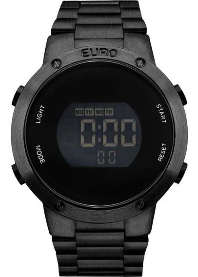 Relógio Euro Feminino Eubj3279ab/4p Preto Digital Barato