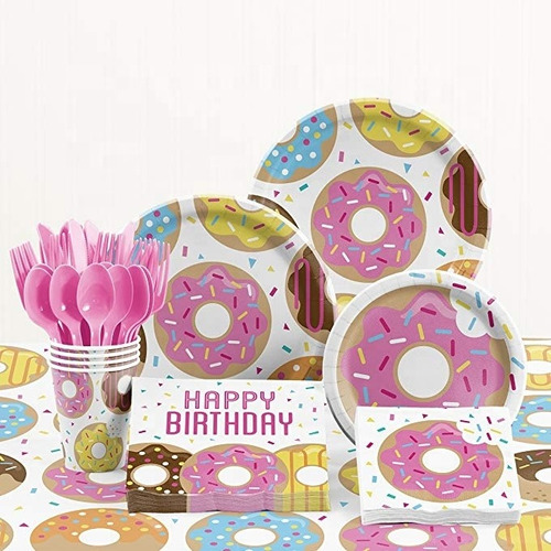 Donuts Theme Birthday Party Sets 141pieces For 26 People