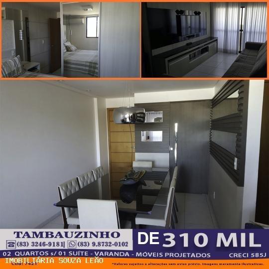 Apartamento Para Venda Em João Pessoa, Tambauzinho, 2 Dormitórios, 1 Suíte, 1 Banheiro, 1 Vaga - 7421