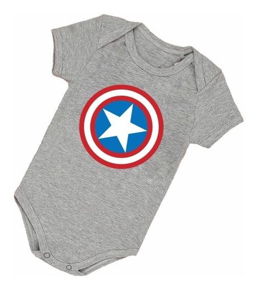 Body Infantil Bebê Frete Grátis Capitão América Bori B006cz