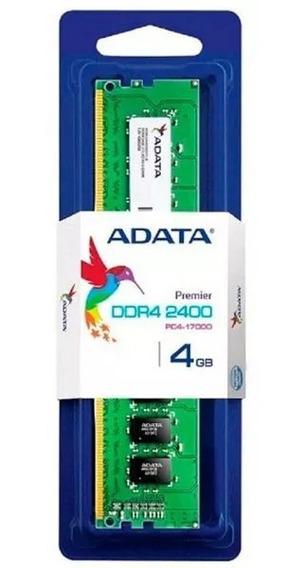 Memória Adata 4gb Ddr4 2400mhz Cl17 - Ad4u2400w4g17-s