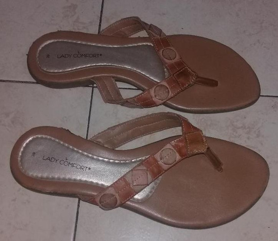 Chinela Marron Lady Comfort Talle 39-40