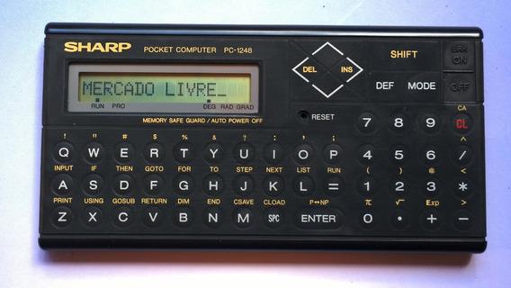 Ofertaço Calculadora Sharp Pc 1248 Pocket Computer Raridade