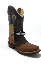 Bota Vaquera Rodeo Para Hombre Color Crazy Miel/cafe